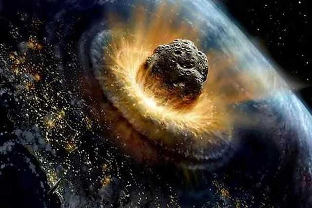 Столкновение метеорита с Землёй