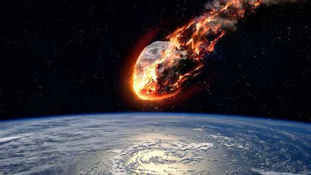 изображение их падения на Землю