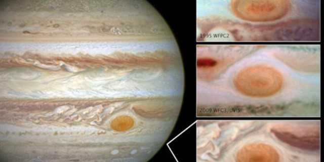 фото Большого красного пятна Юпитера