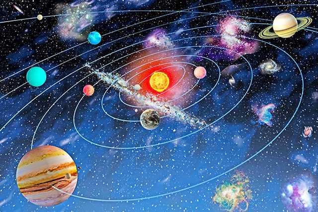 художественное изображение небесных тел